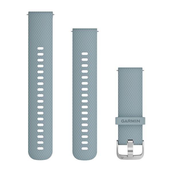 Garmin Řemínek Quick Release 20mm, silikonový šedý,stříbrná přezka