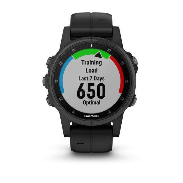 Garmin fenix5S Plus Sapphire Black, Black Band, TRI Bundle