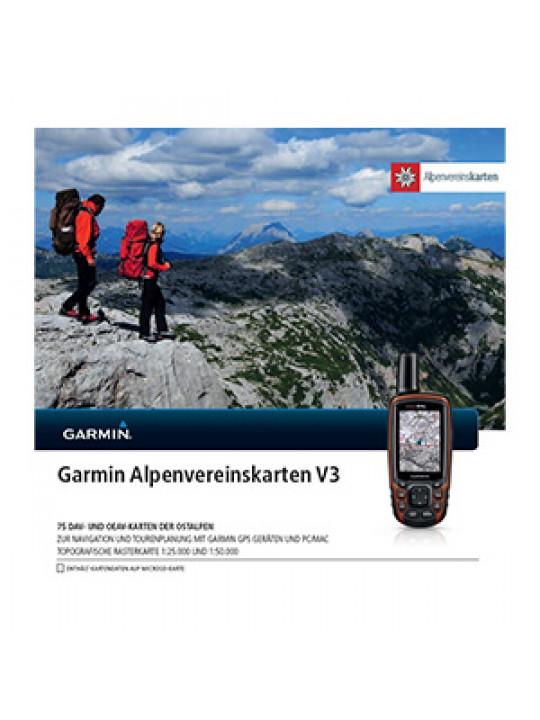 Turistická mapa Alpenvereinskarten v3, microSD