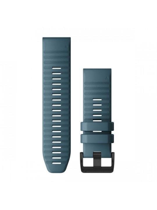Řemínek pro fenix6X - QuickFit 26, silikon., modrý, černá přezka