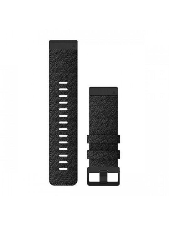 Řemínek pro fenix6X - QuickFit 26, nylon., černý, černá přezka