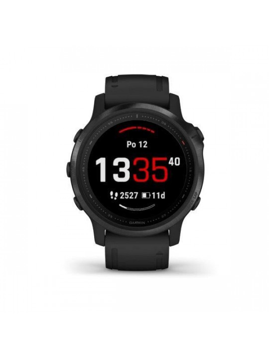 Garmin fenix6S Glass, Black/Black Band (MAP/Music)