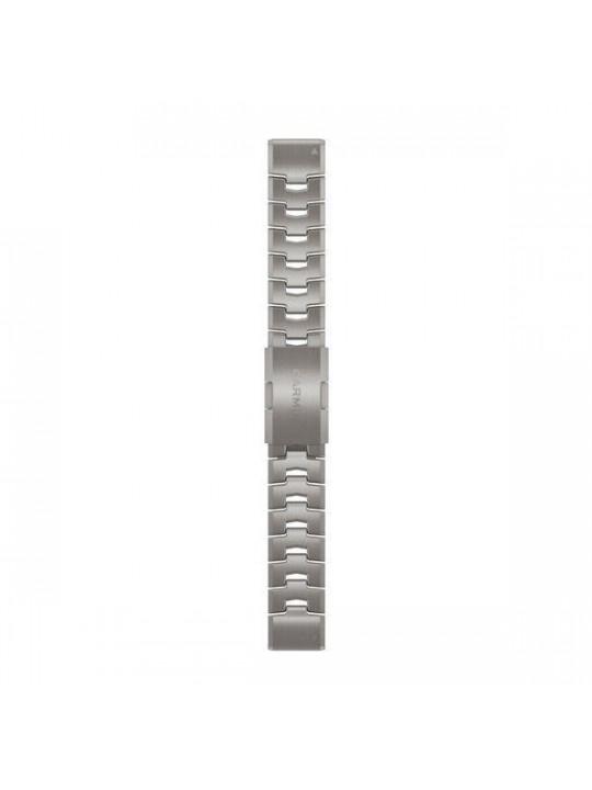 Řemínek pro fenix6 - QuickFit 22, titanový, světlý
