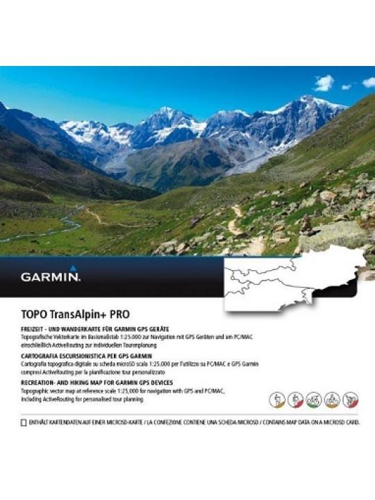 Garmin - turistická mapa Topo TransAlpine+ PRO (Alpy, Rakousko)