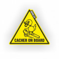 Samolepka Cacher on board